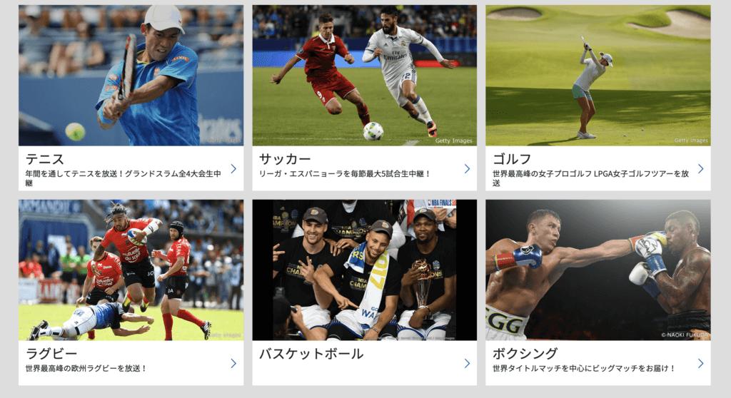 WOWOWのスポーツ動画観戦に関する参考画像
